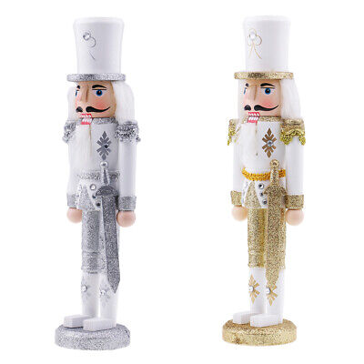 2x Christmas Nutcracker Soldier Wooden Walnut Soldiers Xmas Gift for Friends ()