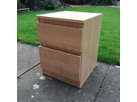 Pine Coloured Bedside Table