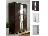 Lux 3 Door Style Wardrobe Center Mirror 3 Door, cupboard, cabinet, wenge, white SALE
