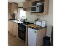 Six Berth New Caravan to hire , West Sands Holiday Park, lovely spot