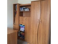 Furniture with wardrobe and desk for child bedroom