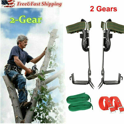 Tree Climbing Spike Set Safety Belt Adjustable Lanyard Rope Rescue Belt 2-gears