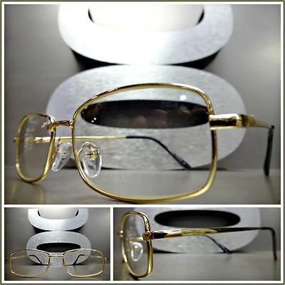 Herren Moderne Modern Stil Klarglas Brillen Klein Gold Modisch Rahmen