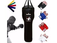 TurnerMAX Body Shaped Punching Bag Boxing Heavy Uppercuts Training Synthetic Leather Black New