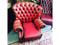 Pair of Chesterfield Monks Chair's