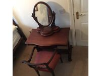Victorian Dressing Table and Victoria Mirror