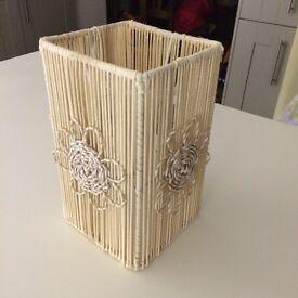 Lamp shade flower pattern