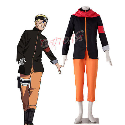 Naruto Outfits (Cafiona Anime Naruto Uzumaki Naruto Cosplay Costume Custom Made Outfit Red)