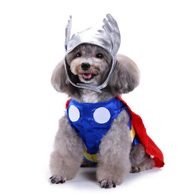 Dog Puppy Halloween Universe Mighty Thor Pet Costume Cosplay - Thor Dog Halloween Costume