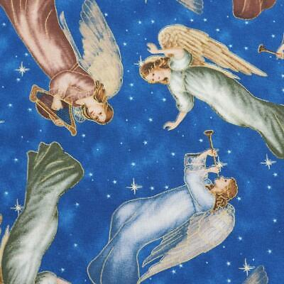 LGD Studios for VIP Exclusive Quilting Fabric Christmas Angels Pattern 2yd + 12