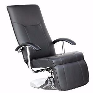 CorLiving LYT-402-C Yalaha Rich Black Leatherette Reclining Lounge Chair – Brand New