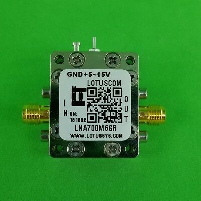 Broadband Ultra Low Noise Amplifier With Ldo 0.4db Nf 0.76ghz 20db Gain Sma