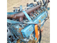 Bedford TK KM 6 cylinder diesel engine and gearbox.