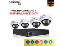 4 CH DVR Security System with 1080P 2.0MP HD AHD CCTV IR Night Vision Cameras