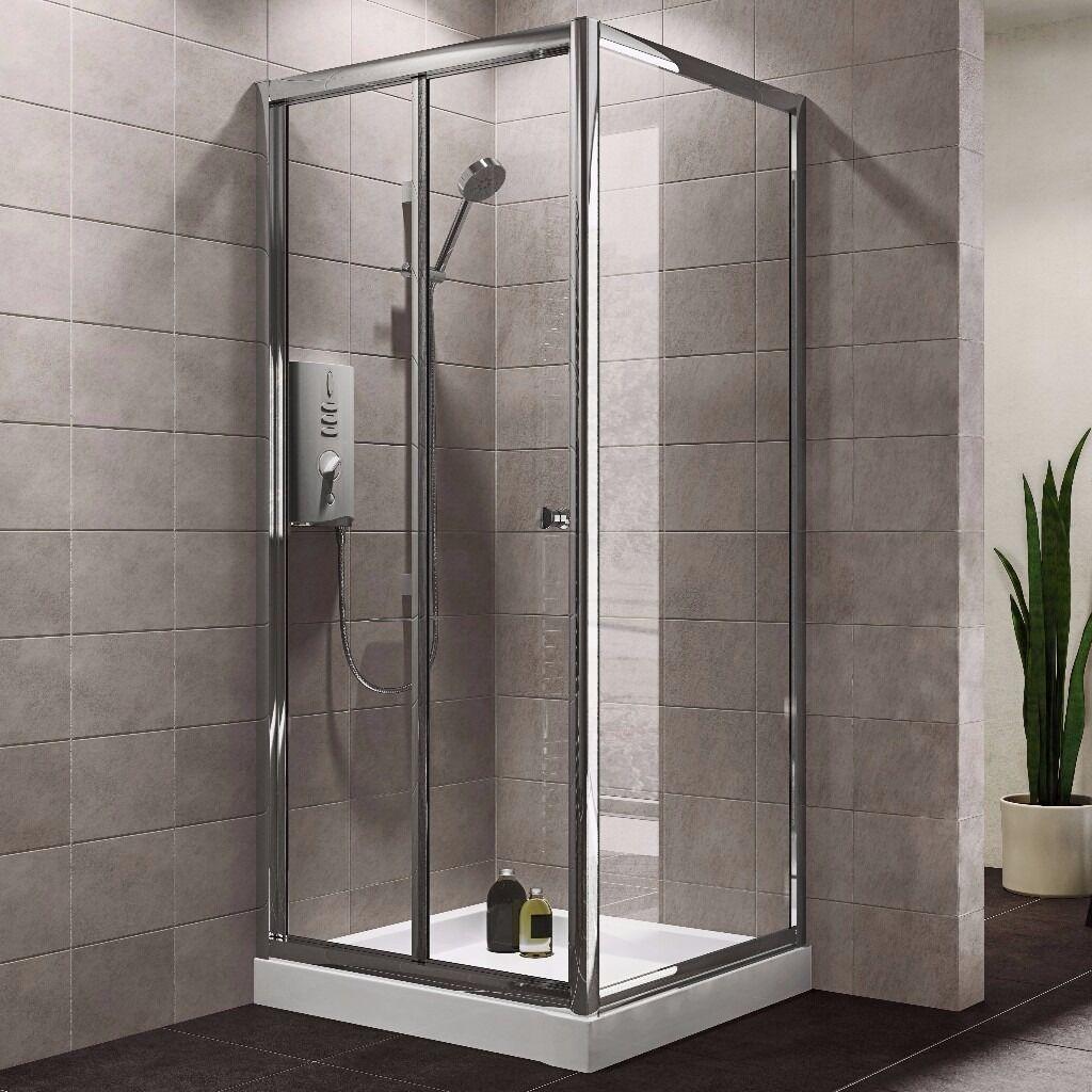 New Unused B Amp Q Plumbsure Square Shower Enclosure With Bi