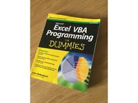 Microsoft excel vba for dummies programming gcse a level book guide