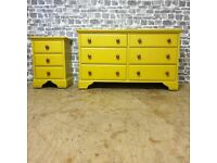 2x Lindale Pine Chest of Drawers Painted