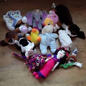 Bundle of teddies from Ikea etc