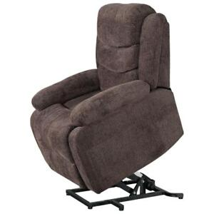 Porter Fabric Power Lift Recliner Chair - Chocolate (in box)