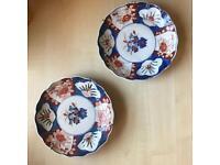 Pair of Imari Wall Plates