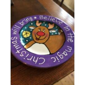 Retro Nicole engblom plate believe in the magic Christmas will bring