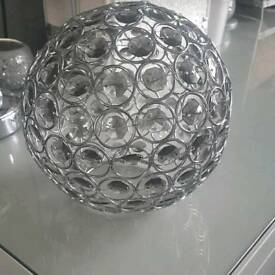 silver pendant light cover