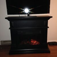 fire place with built in speakers