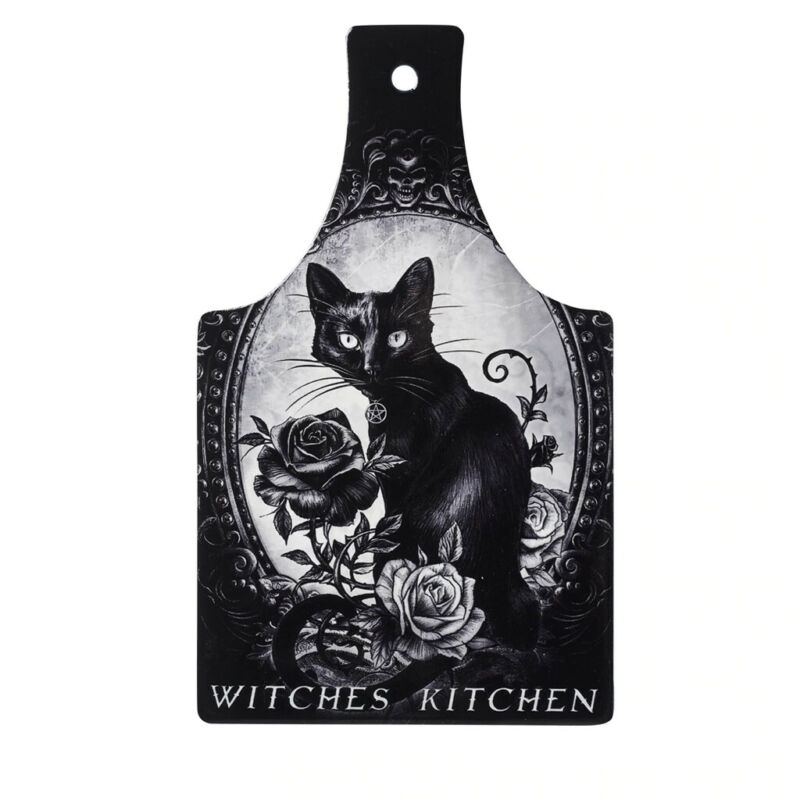 Alchemy Gothic Black Cat Witches Trivet Cutting Board Kitchen Hanging Wall Decor