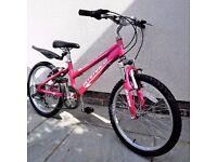 Girls Bike - Pink - Ammaco Sienna - 20-inch Wheels - suit 7yr+