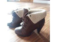 New woman boots size UK4, from Debenhams