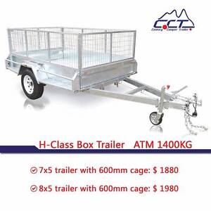 Hot Dipped Galvanized 7x5 8x5 ATM1400kg Box Trailer Rocklea Brisbane South West Preview