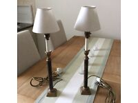 BEAUTIFUL AND UNUSUAL PAIR OF TABLE LAMPS