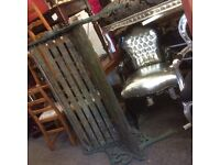 Vintage heavy cast iron bench