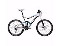 """Cannondale Trigger Carbon 2 White 19"""" Mountain Bike with manufacturer warranty"""
