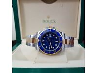 Complete Package bi strap blue face ceramic bezel Rolex Submariner automatic sweeping