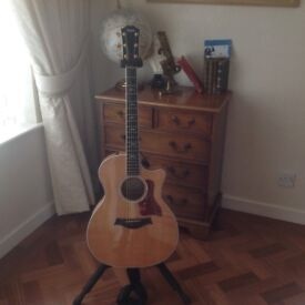 TAYLOR 614 ce ) grand auditorium acoustic ,with expression cutaway 6 string