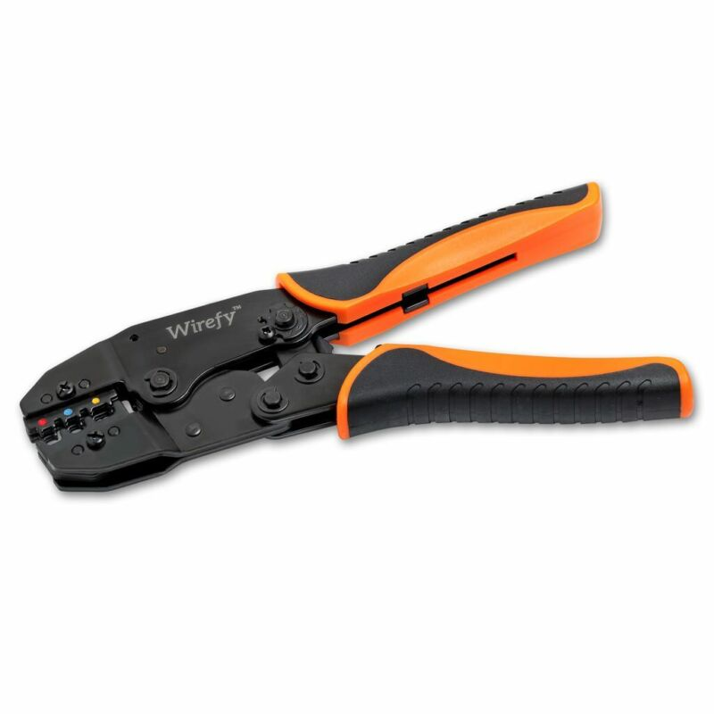Crimping Tool For Insulated Electrical Connectors - Ratcheting Wire Crimper
