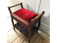 Piano stool needs new seat cover ideal project