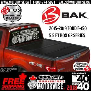 BAKFlip 5.5 ft G2 Hard Folding Tonneau Cover for 2015-2019 Ford F-150 | Free Shipping