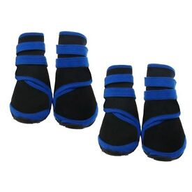 4 x Dog Anti-Slip/Waterproof/ Protective/ Rain Boots - Size Small
