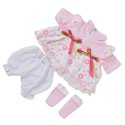 4pc Reborn Newborn Girl Doll Clothes Set For 16-17