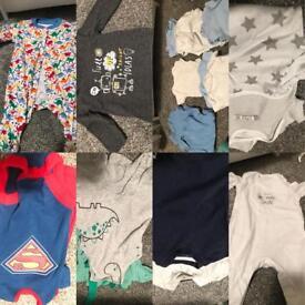 Baby boys 0-3 month clothes bundle