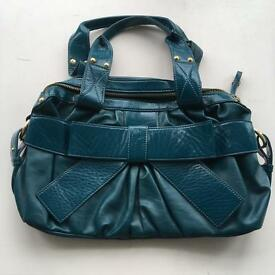 Next teal blue handbag