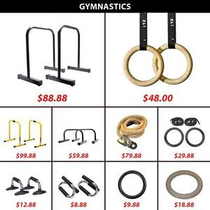 Climbing Rope Wooden Plastic Ring Gym Gymnastic Gymnastics Parallettes Olympic Rings Pull Up Push Bar Dip Equalizers