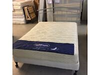 5' king size bed with metal headboard
