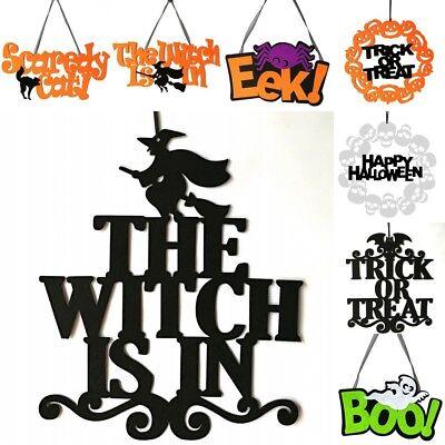 Halloween Ornaments The Witch Is In Black Door Hanging Decoration for Party - Decorate Door For Halloween