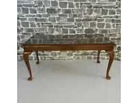 Glass Top Vintage Coffee Table