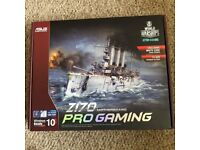 ASUS Z170 Pro Gaming Motherboard / Never used, unopened proof with pictures