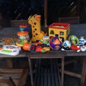 Selection of baby toddler toys