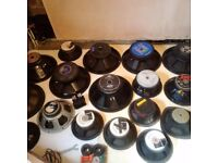 Speakers suitable for PA , Guitar combos , Discos etc JBL EV Celestion Beyma